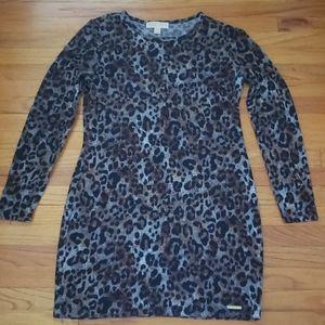 Michael Kors Leopard Sweater Dress